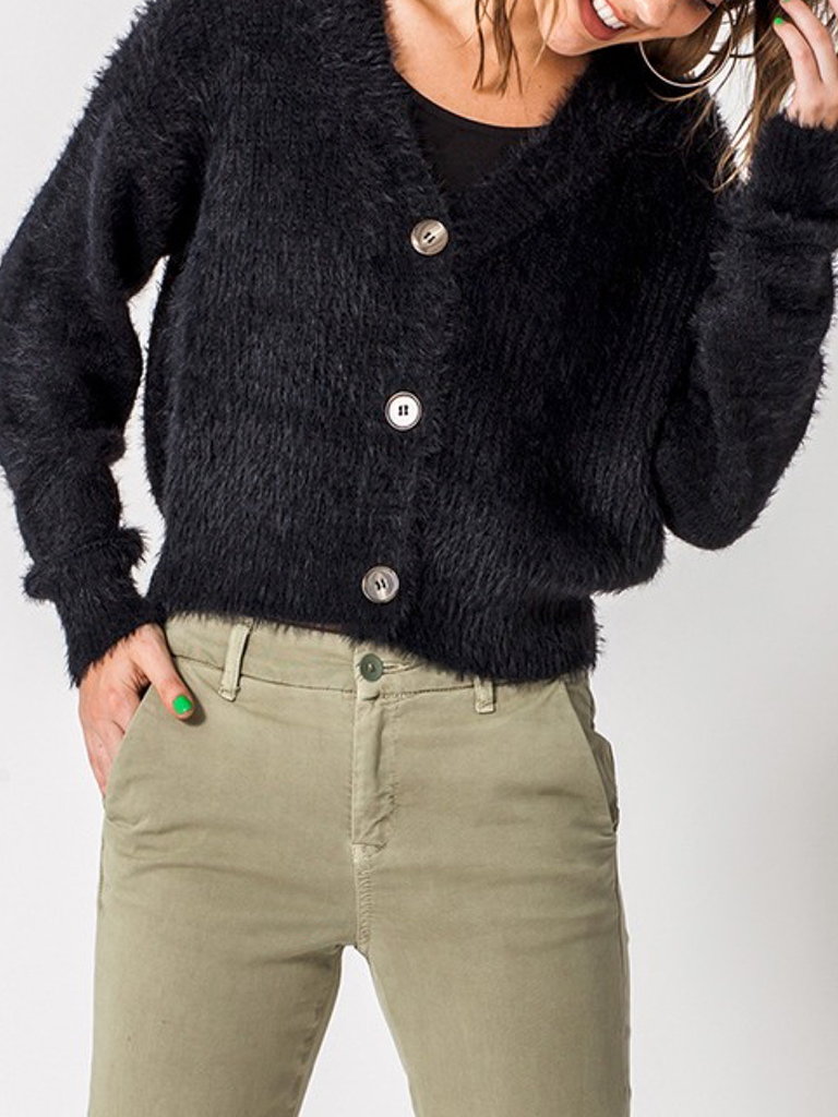 GCBLove Dz Fuzzy Button Sweater