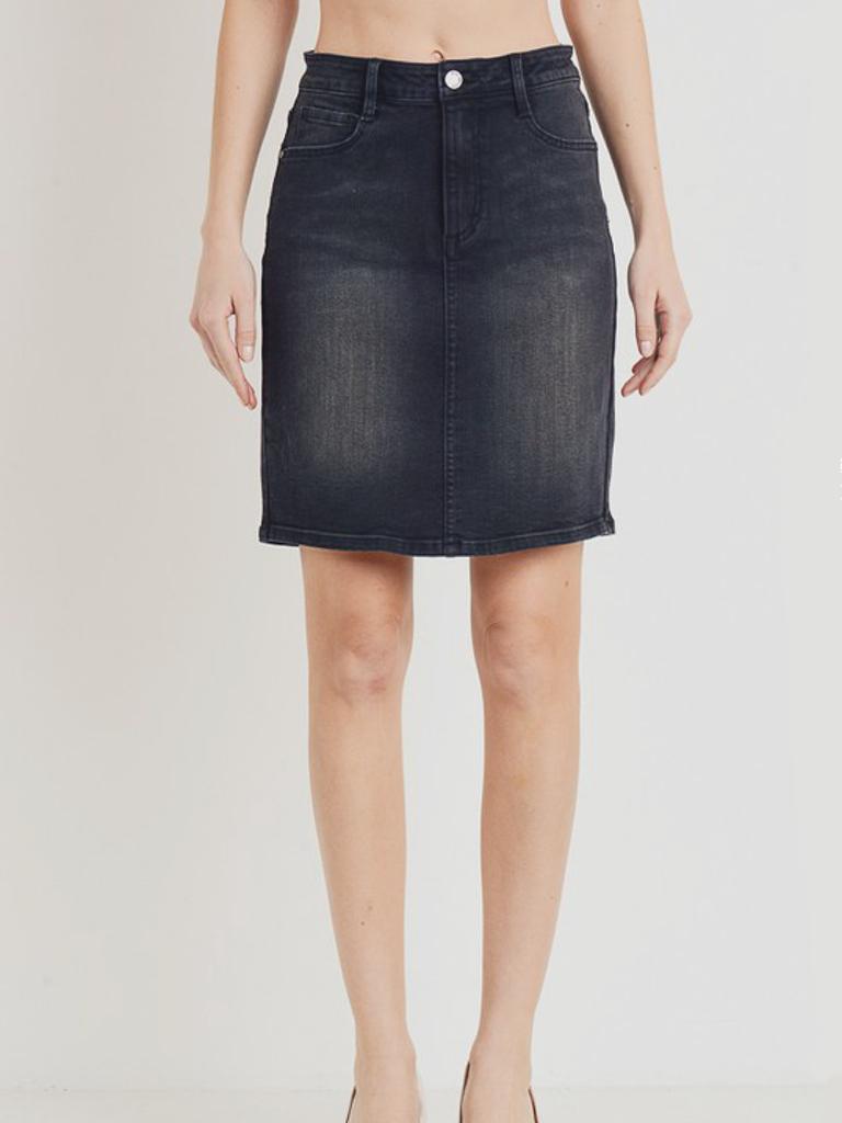 C'est Toi Denim Denim Mid Skirt