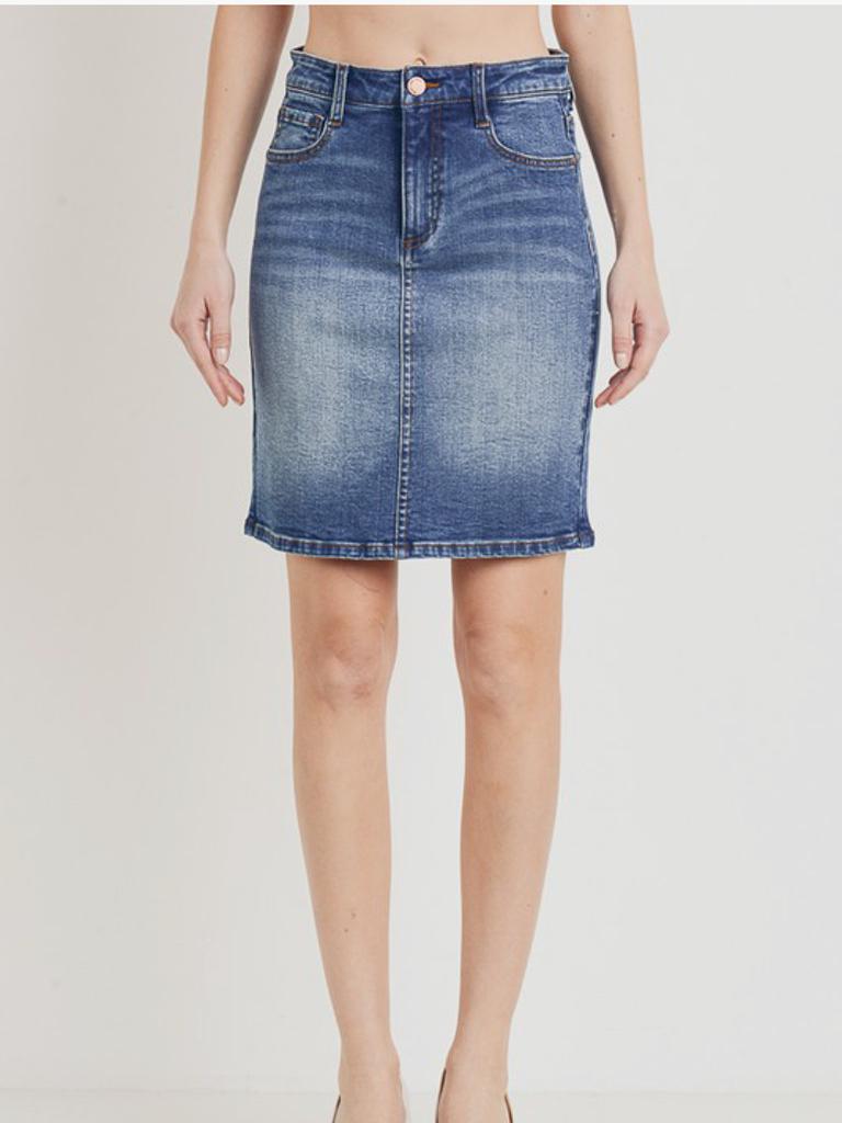 Denim Mid Skirt
