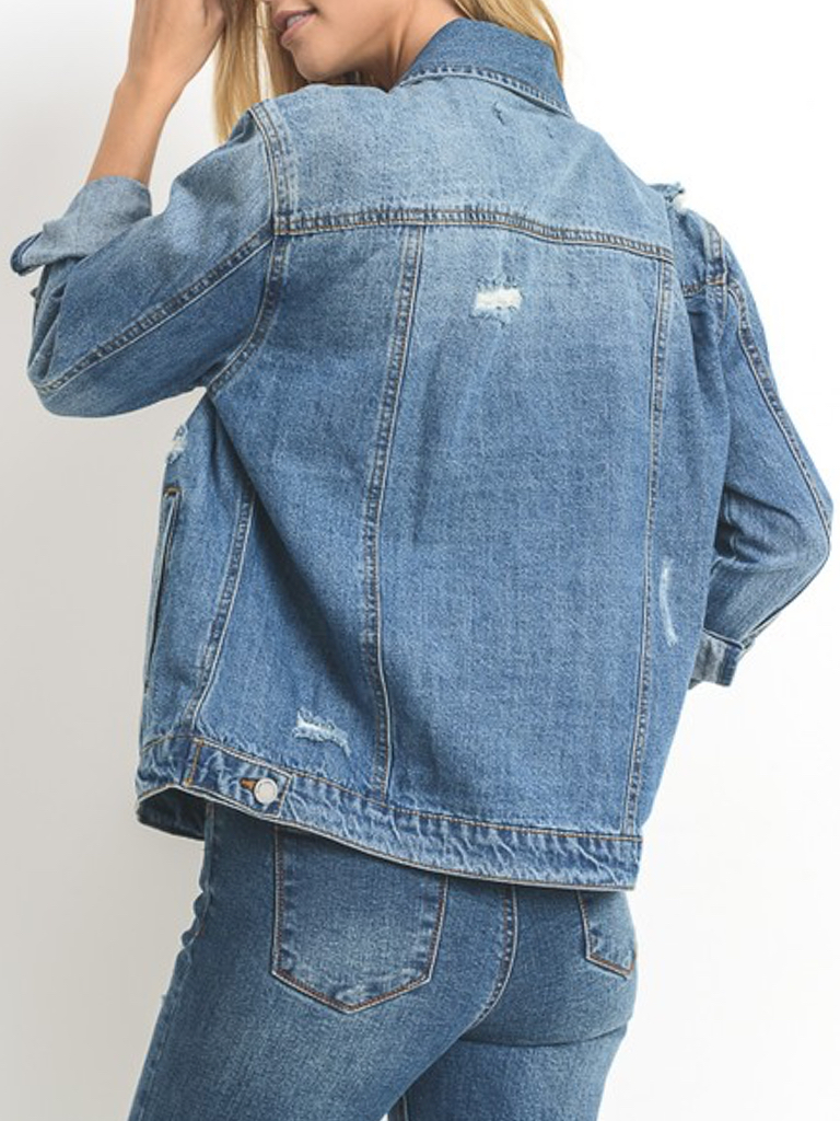 C'est Toi Denim Oversized Denim Jacket