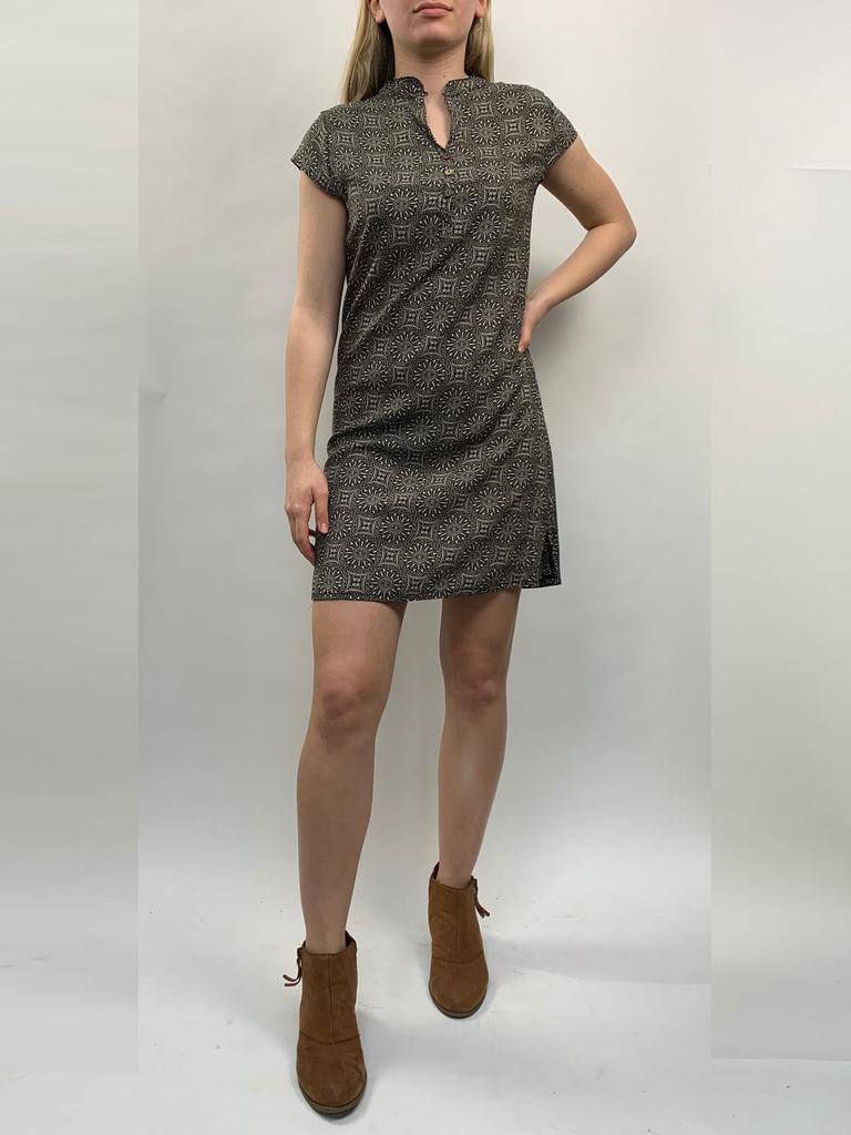 Zahara 3 Button Business Dress, Eclipse