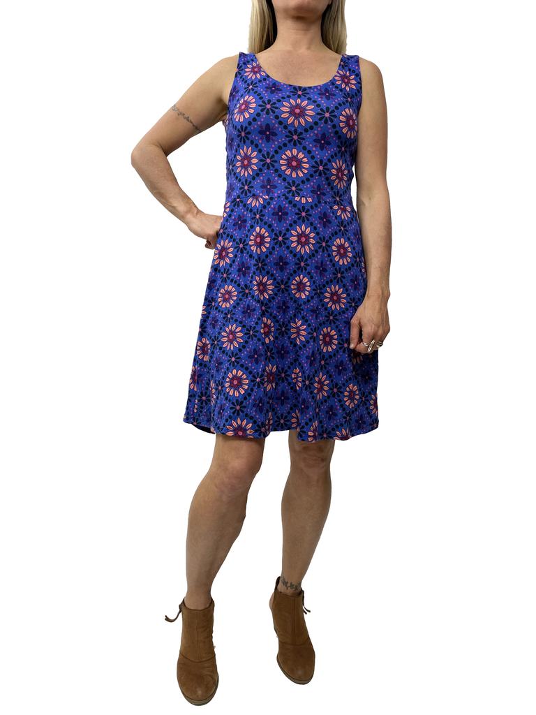Zahara X-Back Dress, Vintage Floral