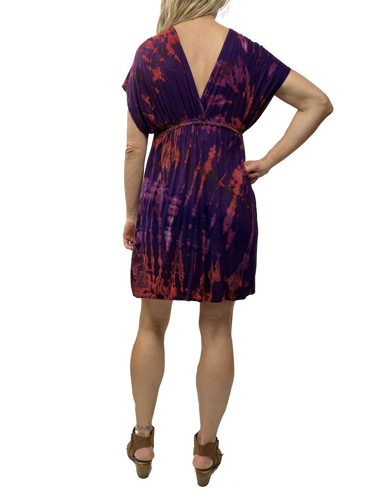 Khun Khai Twist Dye Kimono Dress