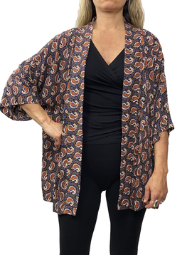 Zahara Culture Cardigan, Little Paisley
