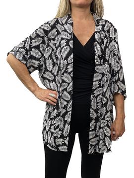 Zahara Culture Cardigan, Black Palms