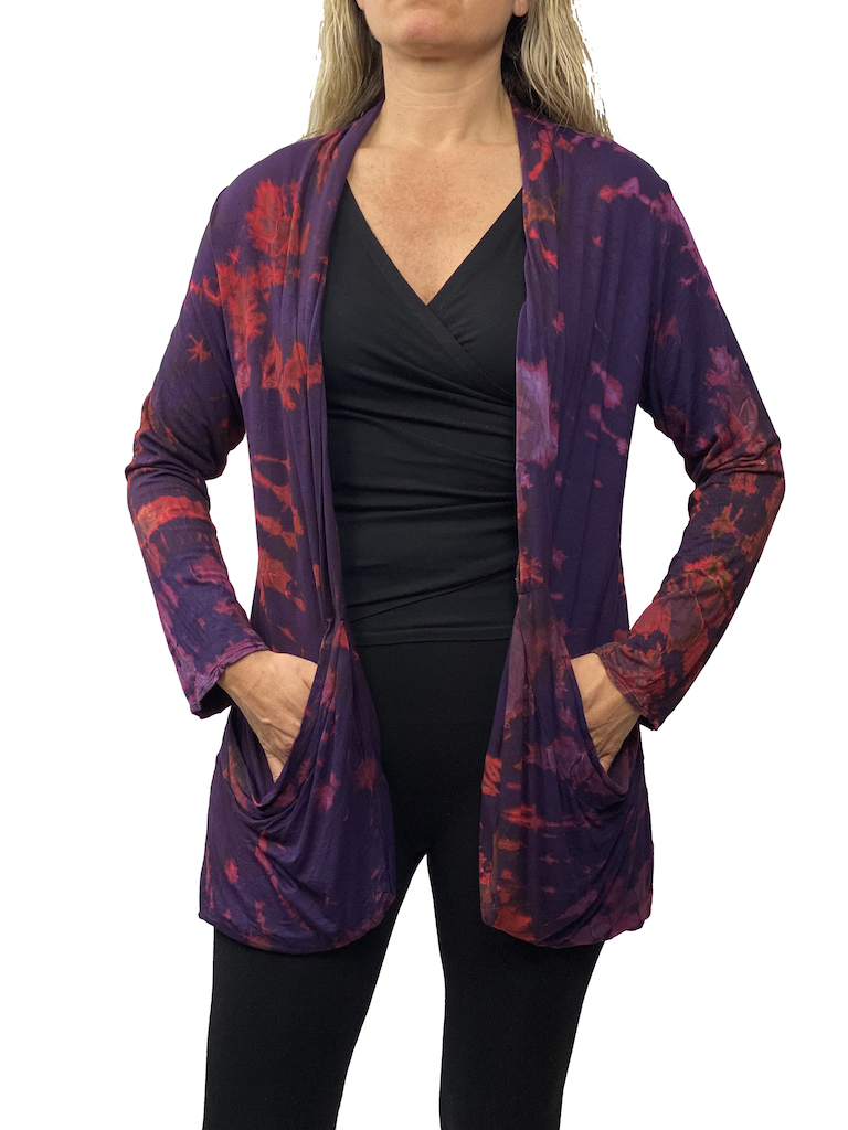 Zahara Tie Dye Pocket Cardigan