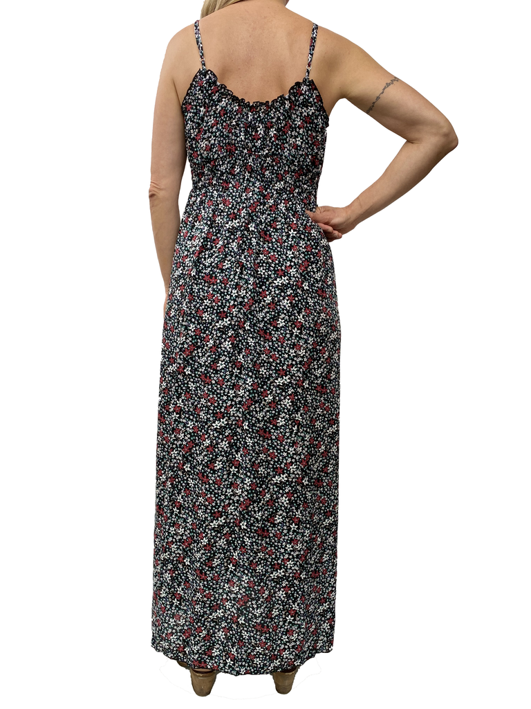 Zahara Whimsical Maxi Dress, Flower Fields
