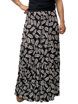 Zahara Meadow Skirt, Black Palms