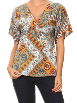 GCBLove Patchwork Peasant Top