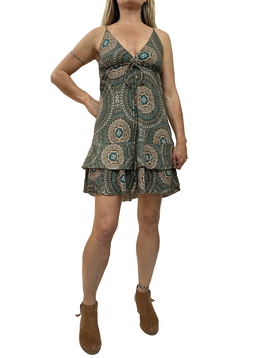 Zahara Ruffle Dress, Mystic Circles