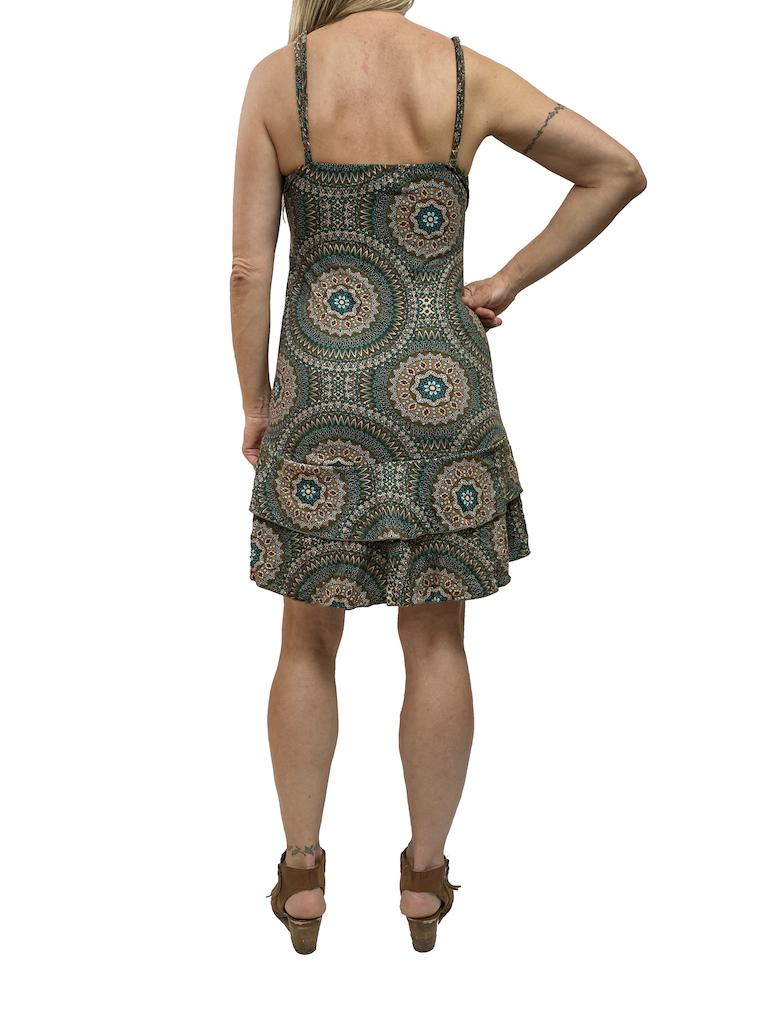 Zahara Ruffle Dress, Mystic Circles