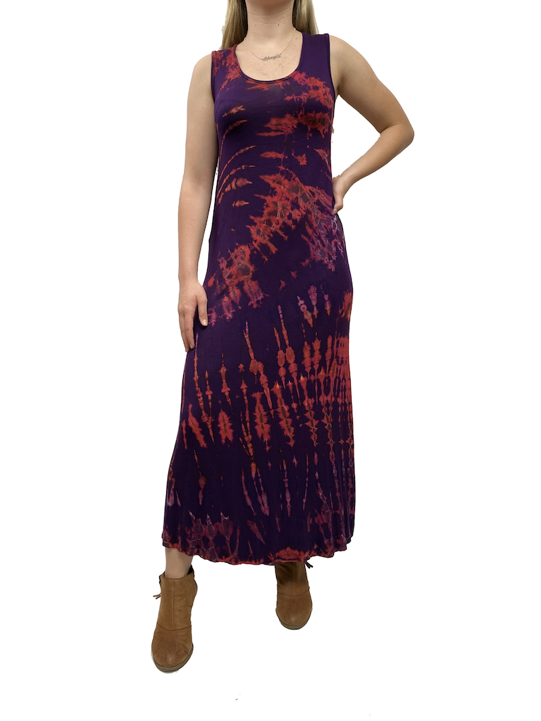 Khun Khai Twist Dye Maxi Dress