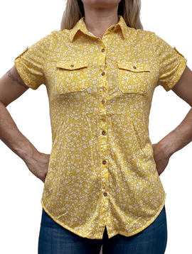 GCBLove Canary Flowers Top