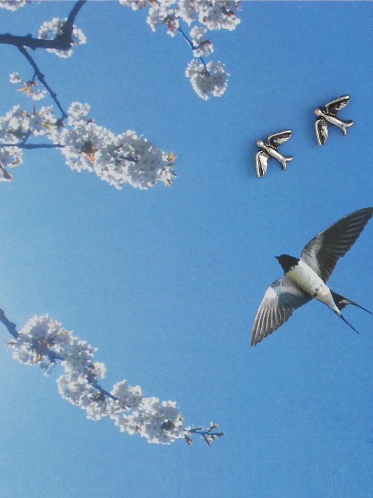 Silver Swallow Bird Post