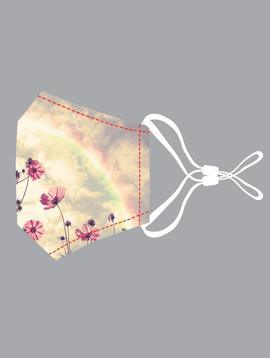 Rainbow Flower Cotton Mask
