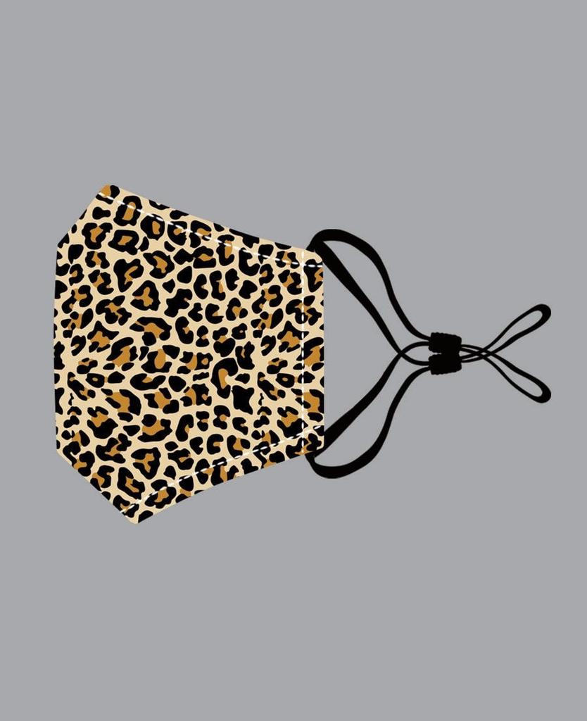 Peacock Orange Leopard Cotton Mask