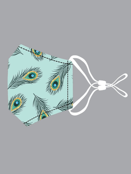 Lil Peacock Feathers Cotton Mask