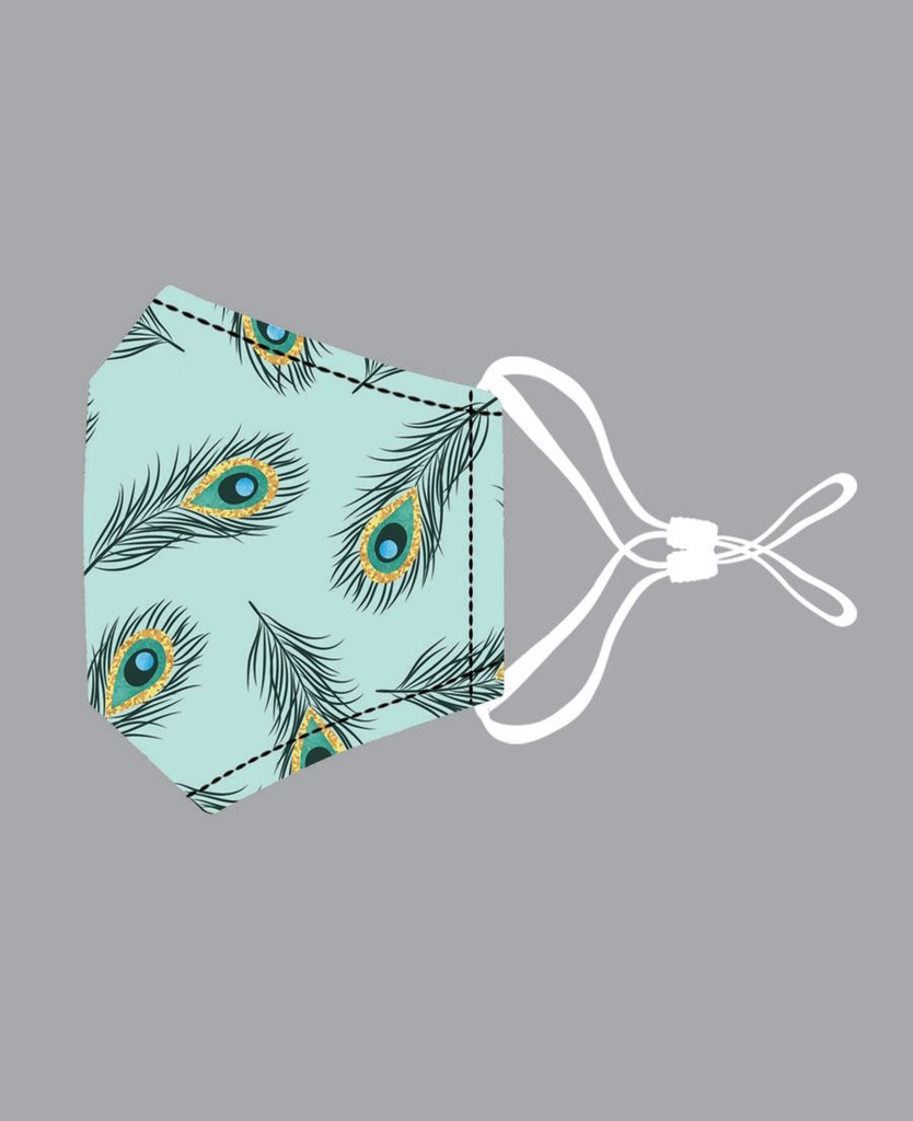 Lil Peacock Feathers Mask