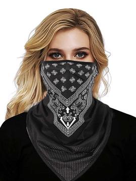 joia Breathable Face Bandana Black (Half Print)