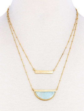 joia Double Layer Demi-Stone Necklace1