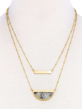 joia Double Layer Demi-Stone Necklace2