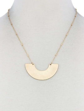 joia Half Circle Gold Necklace
