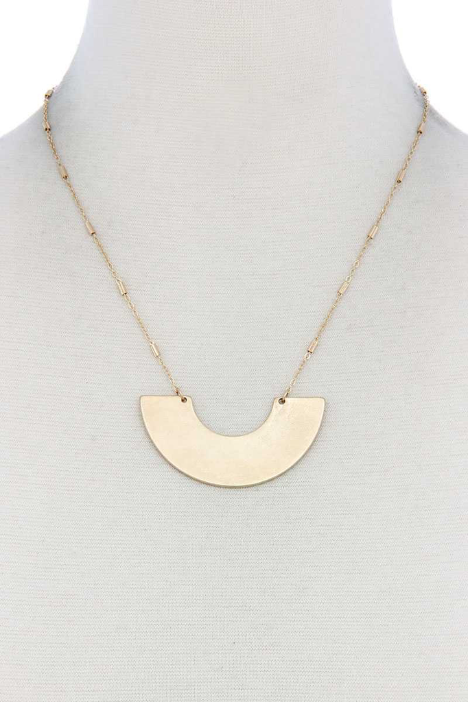 Half Circle Gold Necklace