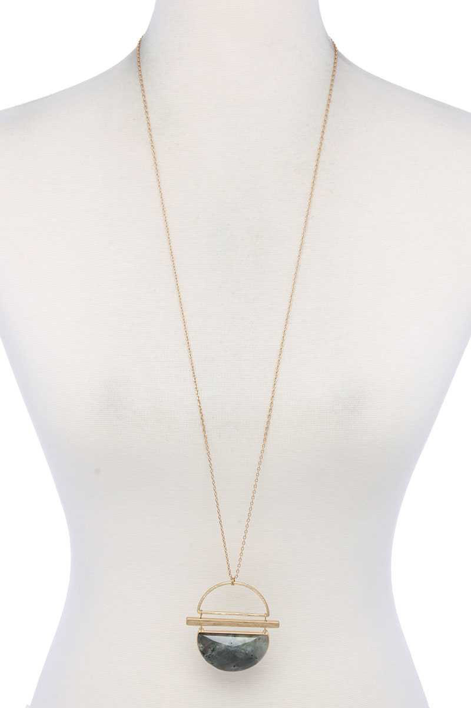 joia Half Circle Stone Necklace2