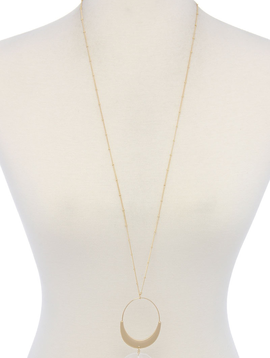 Oval Shape Triangle Stone Necklace