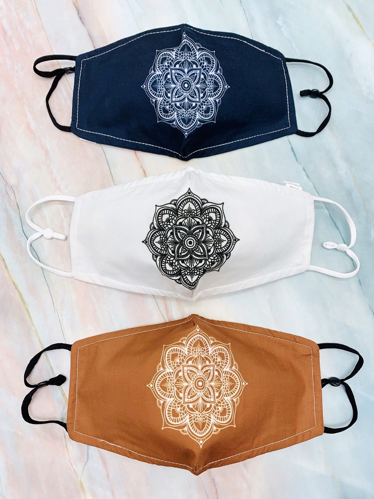 JC Sunny Mandala Cotton Mask