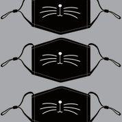 Black Kitty Cotton Mask