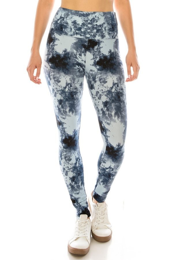 Red Ribbon Cloudy Day Legging