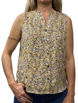 Zahara Breezy Peasy Button Top, Flower Fields