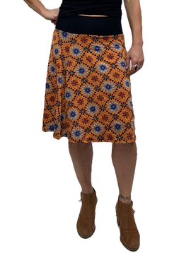 Zahara Band Skirt,  Vintage Floral
