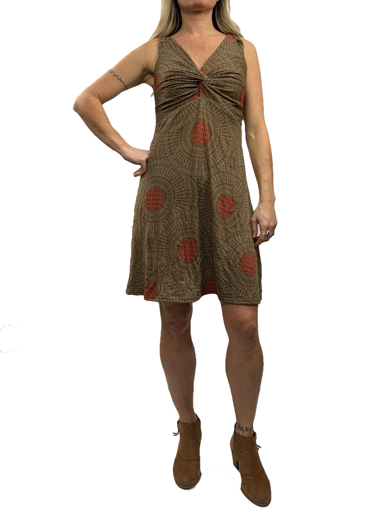 Gypsy Chic Strappy Twist Dress, Mandala