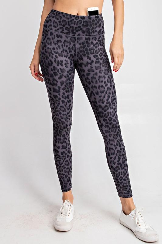 RaeMode Black Leopard Leggings