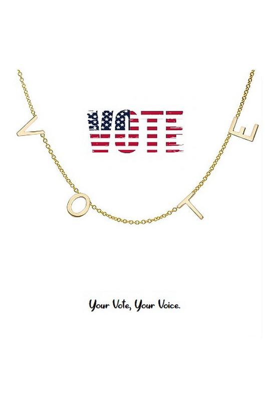 V-O-T-E Necklace