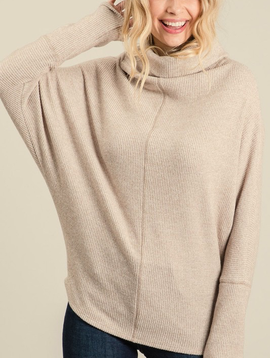 Knit Mock Neck Tunic