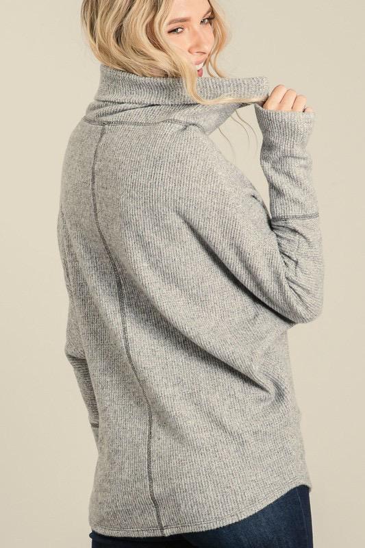 Knit Mock Neck Tunic