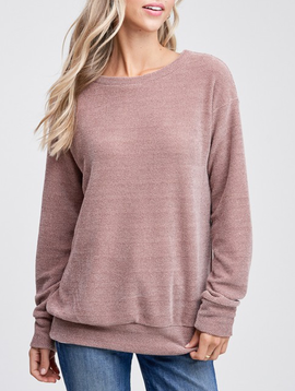 Chenille Lounge Sweater