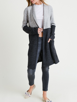 Doe & Rae Color Block Cardigan