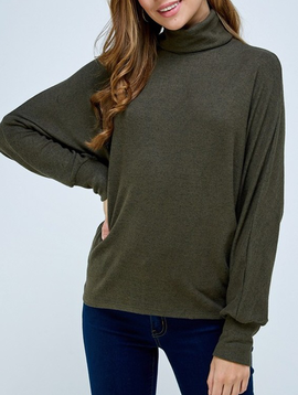 Trend Shop Hacci Turtleneck Top