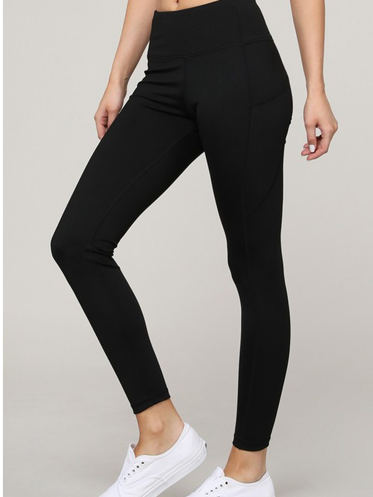 Yelete Active Sport 5 Pocket Black Legging
