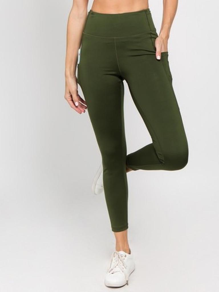 Yelete Active Sport 5 Pocket Green Legging