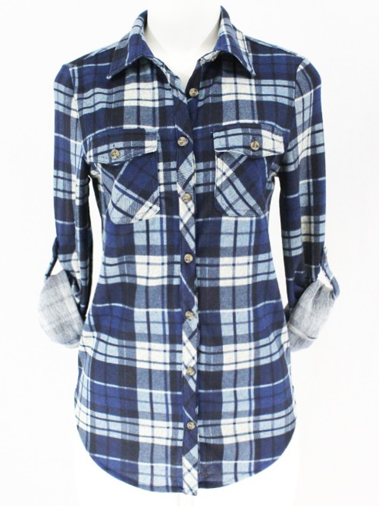 Clothing of America Ranch Top in Blue