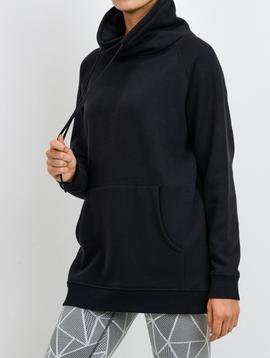 Mono B Portland Fleece Pullover in Black