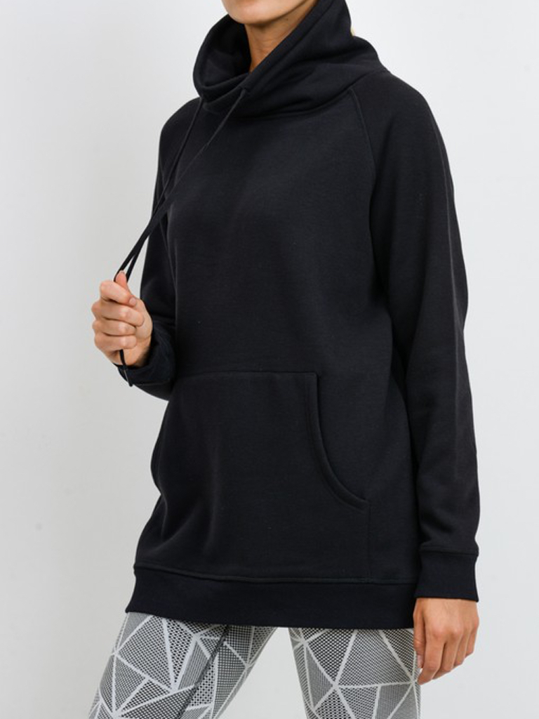 Mono B Portland Fleece Pullover in Black