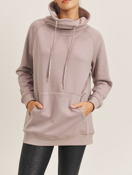Mono B Portland Fleece Pullover in Almond