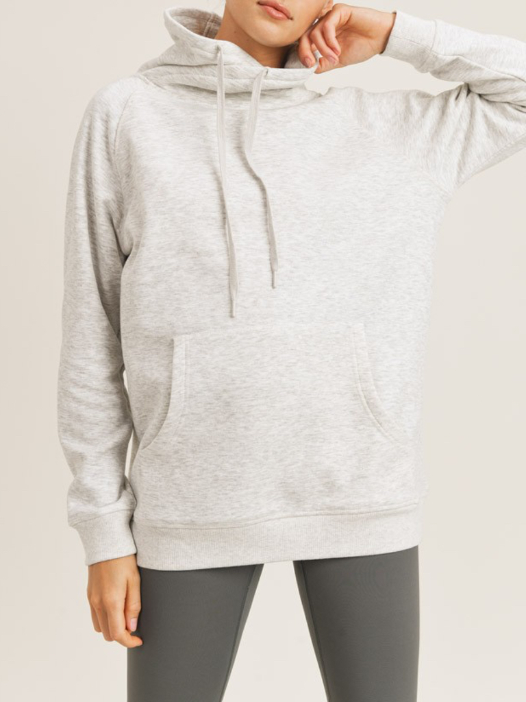Mono B Portland Fleece Pullover in Oatmeal