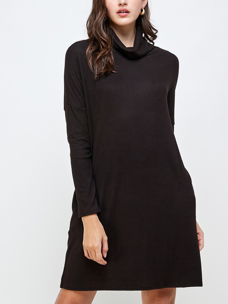 2 Hearts Hacci Turtleneck Dress w/ POCKETS!!